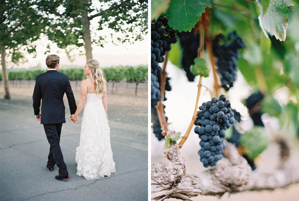 film photography of bride and groom at their napa valley wedding