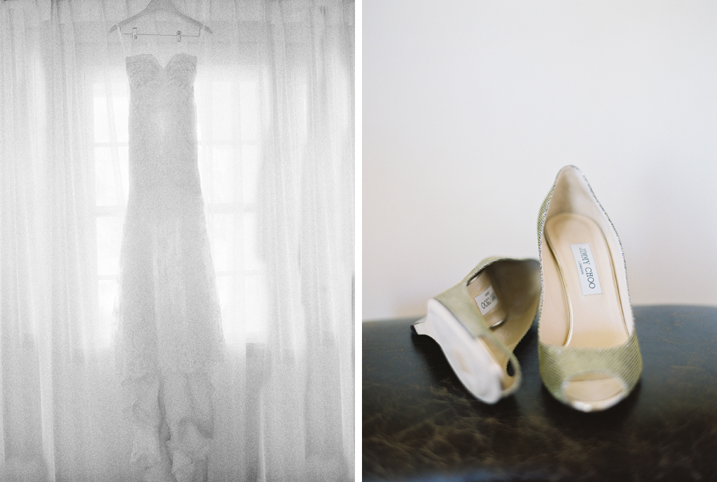 a brides details shot on film on her wedding day in Napa.