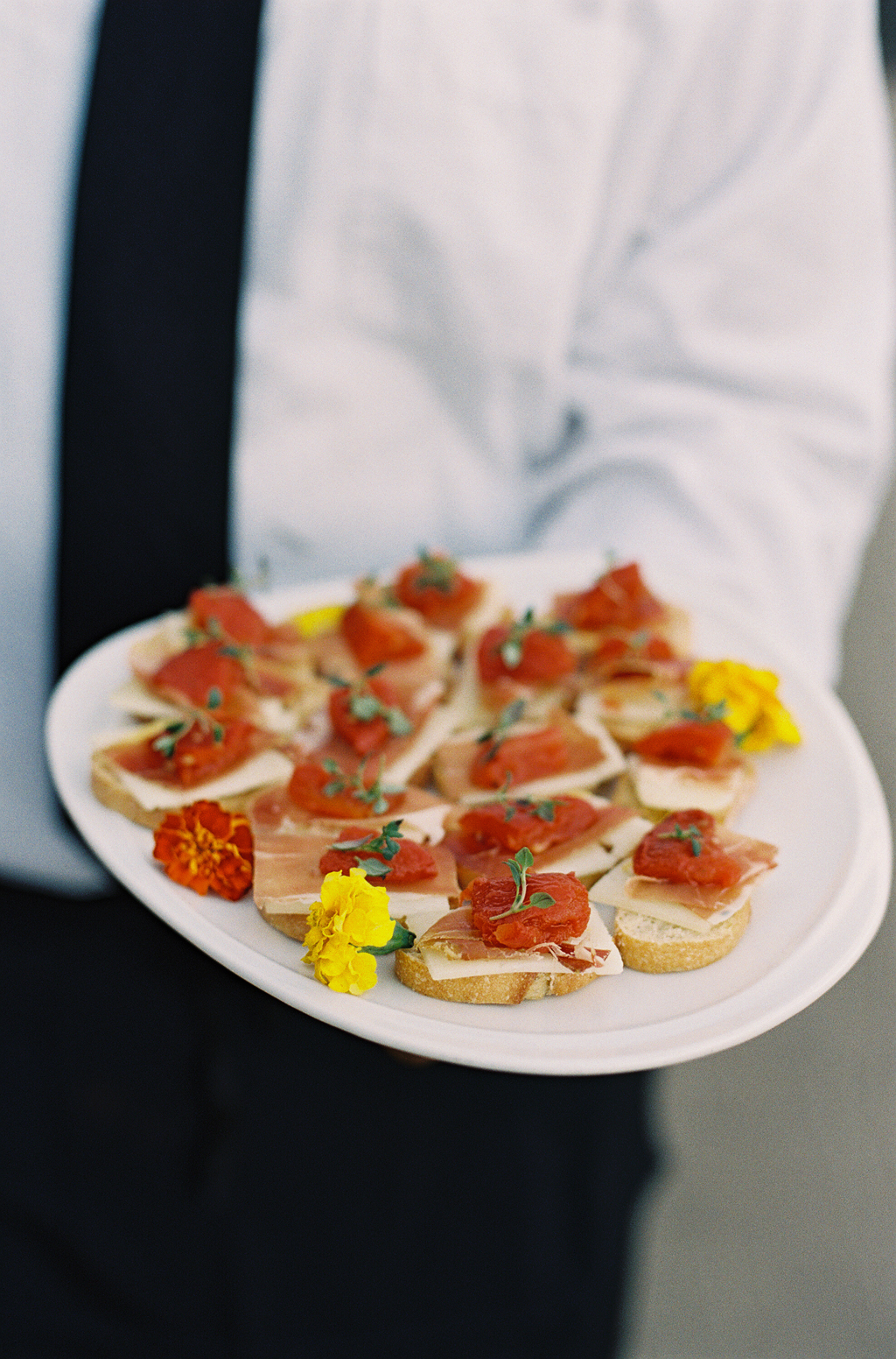 Culinary institute of america catering a wedding in Napa Valley by film photographer Michael Radford.